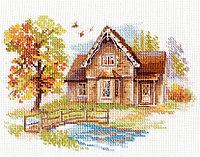 """Набор для вышивания крестом """"Сентябрьский домик"""""""