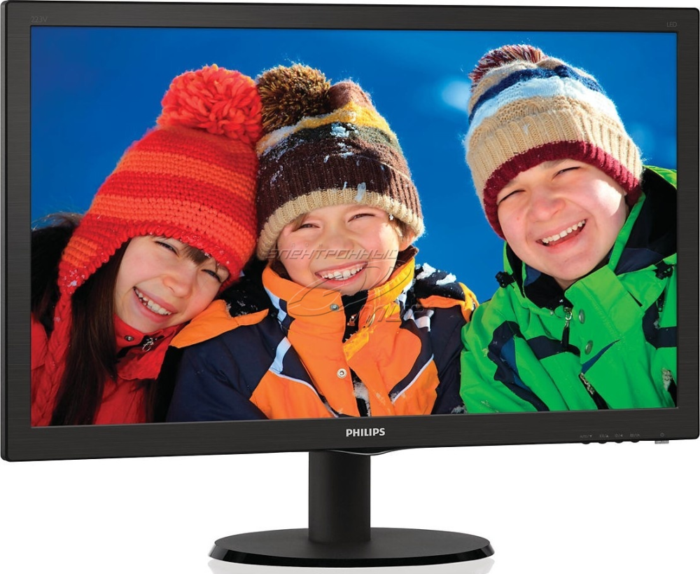 Монитор 21,5'' Philips 223V5LHSB TN LED/FHD/1920x1080/250кд/м/170-160/VGA/HDMI/Black