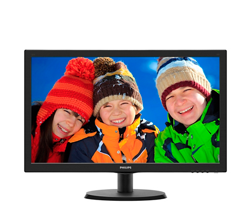 Монитор 21,5'' Philips 223V5LSB TN LED/FHD/1920x1080/250кд/м/170-160/VGA/DVI-D/Black