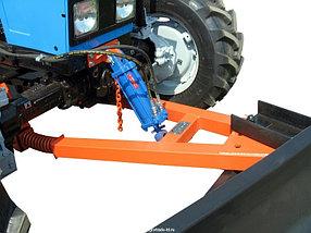 Отвал коммунальный поворотный механический универсальный на МТЗ, фото 2