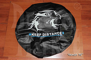 "Чехол на запасное колесо ""Keep Distance"", кожзам, диаметр 16"