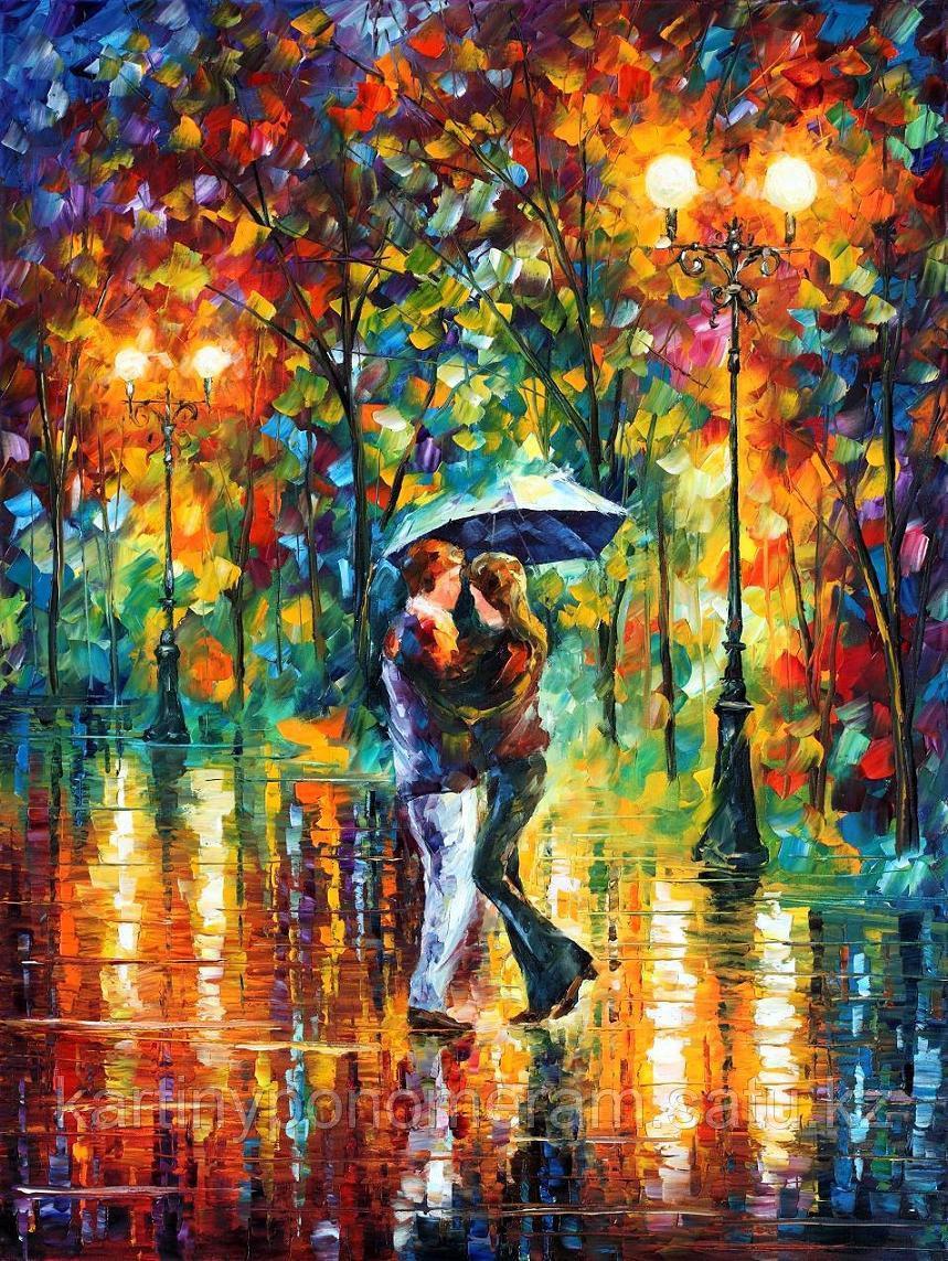 """Картина по номерам """"Танец дождя. Л.Афремов"""""""