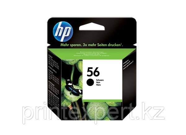 HP C6656AE Black Inkjet Print Cartridge №56 for DJ450/PSC2110, 19 ml, up to 450 pages, 15%. ;