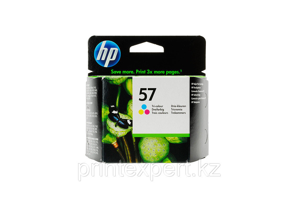 HP C6657AE Tri-color Inkjet Print Cartridge №57 for PS100/PSC2110, 17 ml, up to 400 pages, 15%. ;