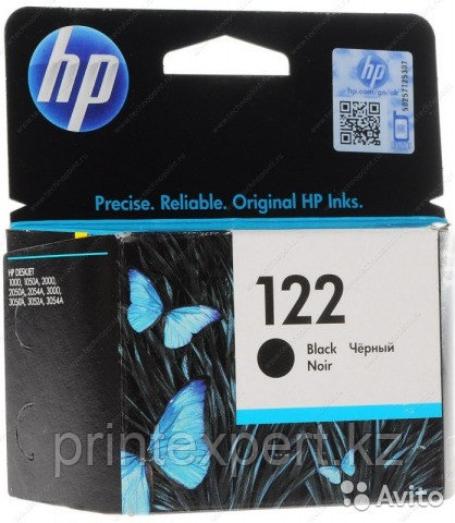 HP CH561HE Black Ink Cartridge №122 for Deskjet 1050/2050/2050s, up to 120 pages. ;