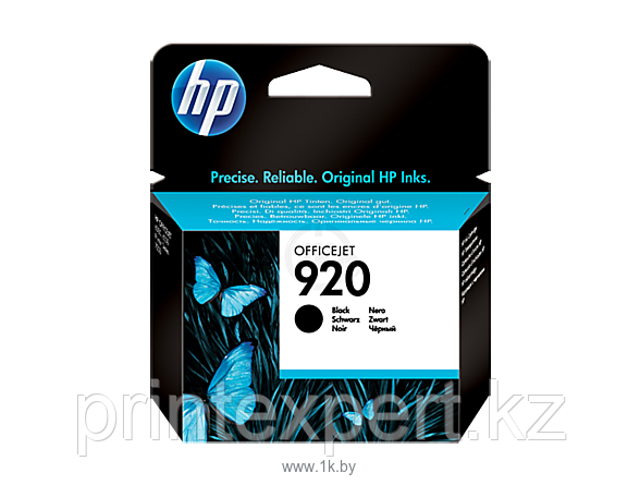 HP CD971AE Black Ink Cartridge №920 for Officejet 6500/7000, 10 ml, up to 420 pages. ;