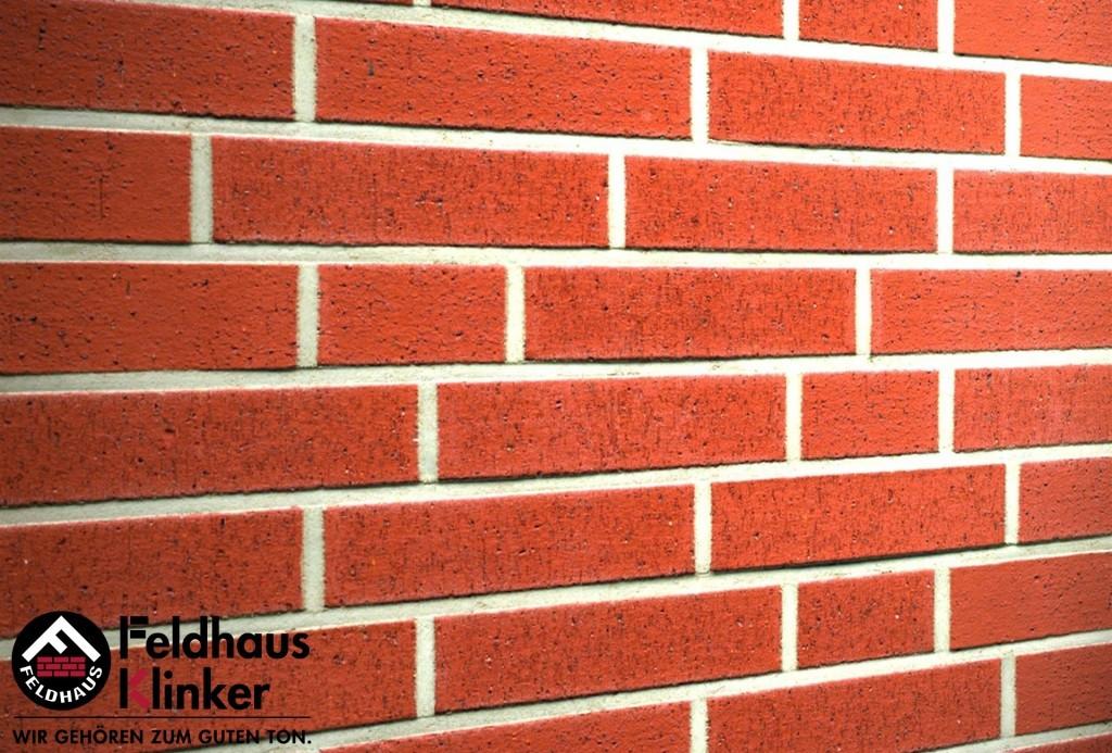 """Клинкерная плитка """"Feldhaus Klinker"""" для фасада и интерьера R401 carmesi rugo"""
