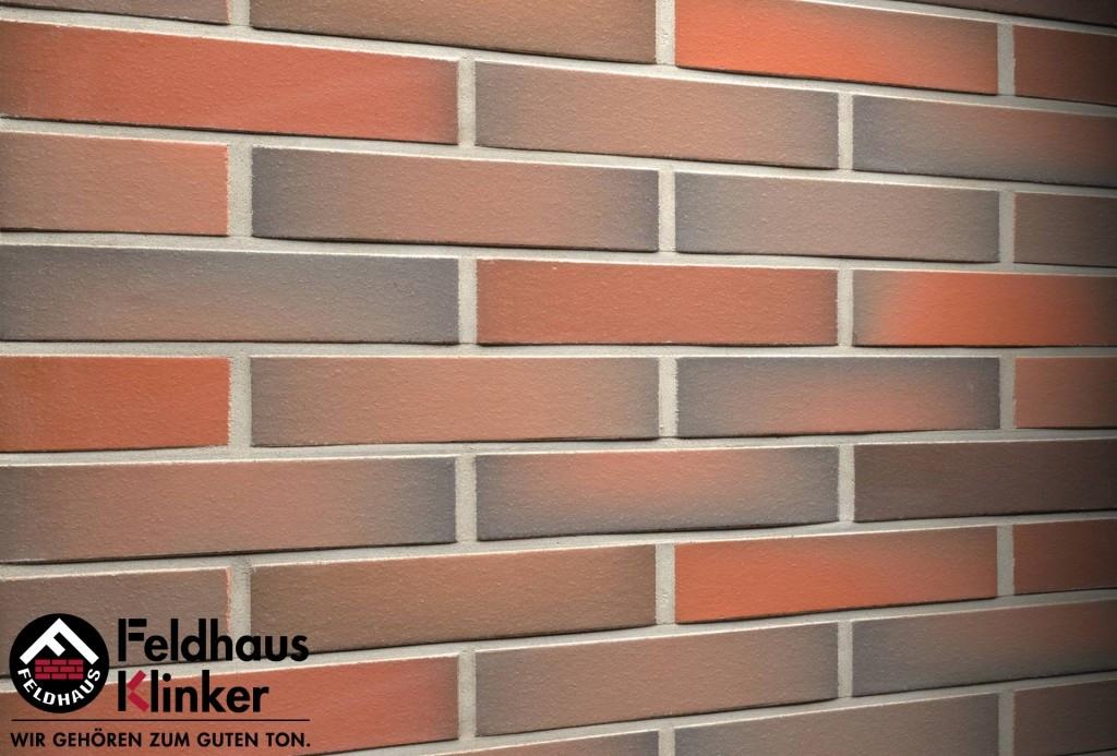 """Клинкерная плитка """"Feldhaus Klinker"""" для фасада и интерьера R484 galena terreno viva"""