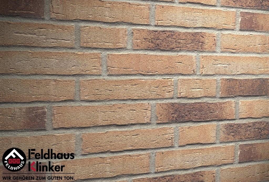 """Клинкерная плитка """"Feldhaus Klinker"""" для фасада и интерьера R679 sintra geo"""