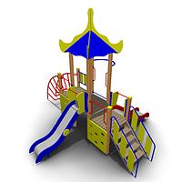Детский игровой комплекс уличный ИК-05 Размеры 5730 х 4750х4310мм
