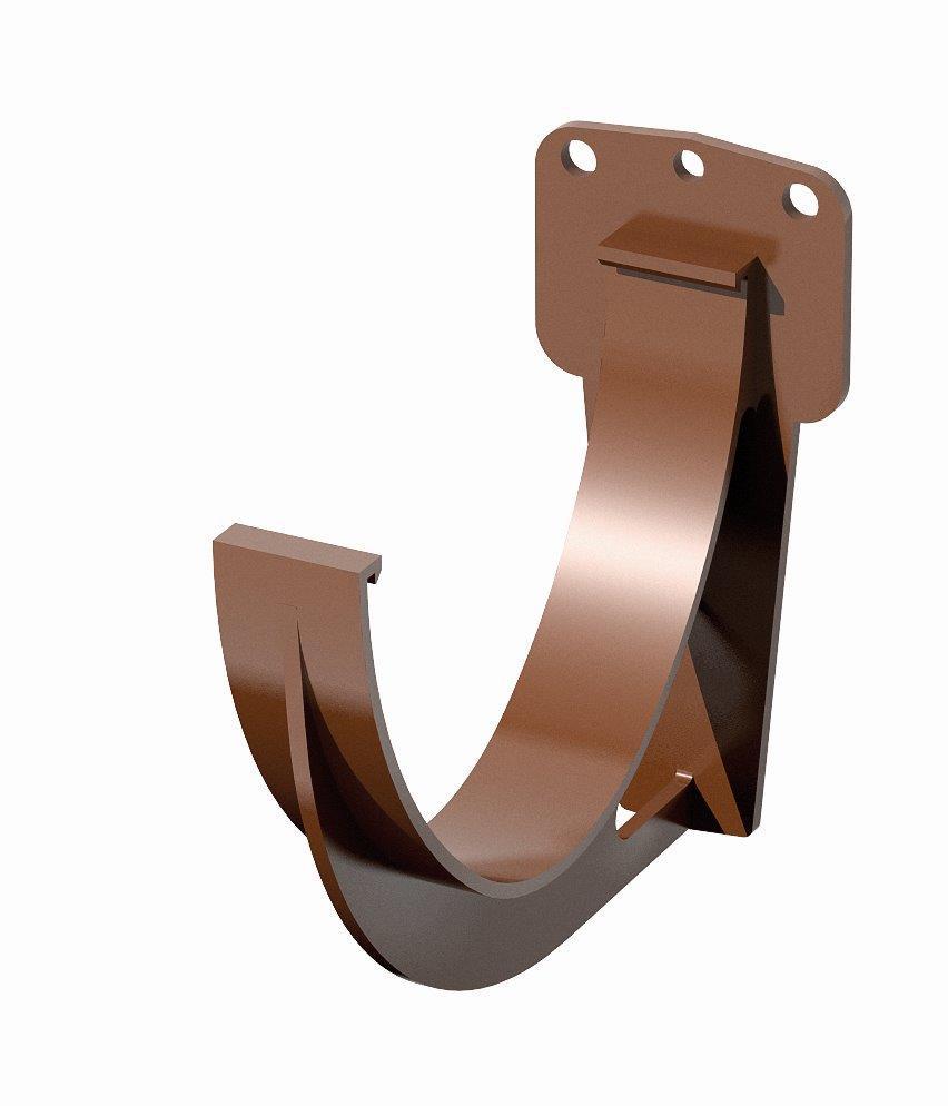 Держатель желоба синтетический 120 ⌀ коричневый