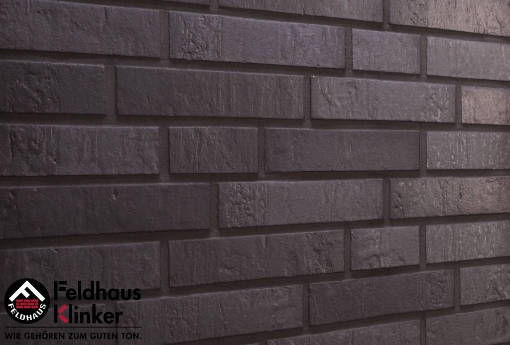 """Клинкерная плитка """"Feldhaus Klinker"""" для фасада и интерьера R717 accudo geo ferrum"""