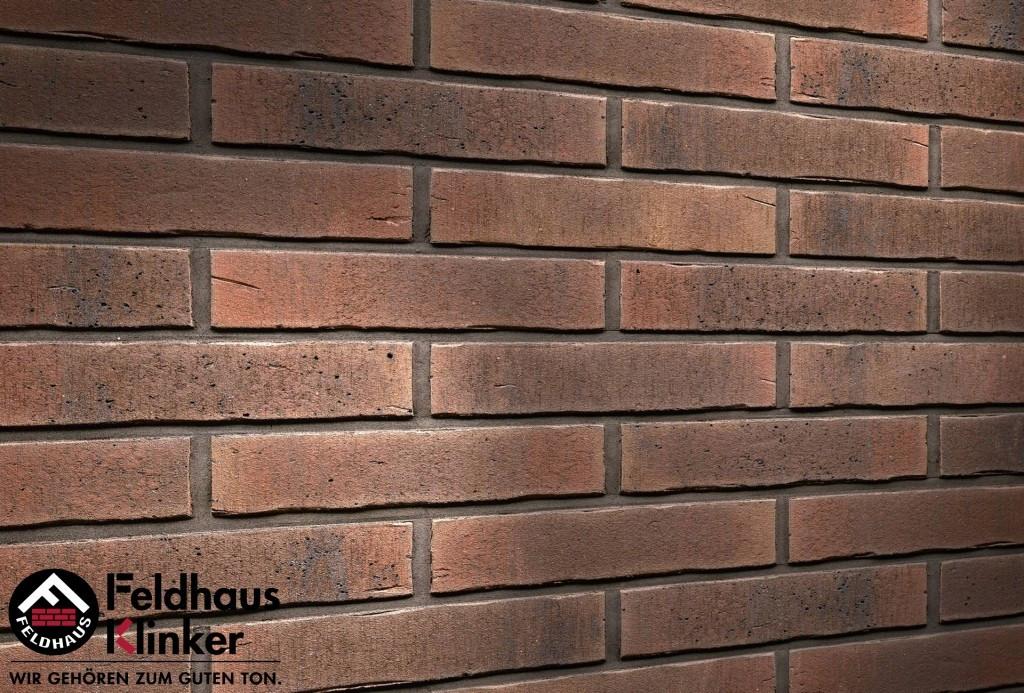 """Клинкерная плитка """"Feldhaus Klinker"""" для фасада и интерьера R728 vascu"""