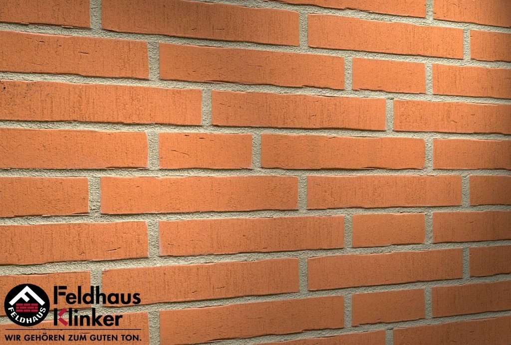 """Клинкерная плитка """"Feldhaus Klinker"""" для фасада и интерьера R731 vascu terracotta oxana"""