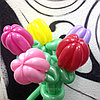 Тюльпаны из шаров к 8 марта