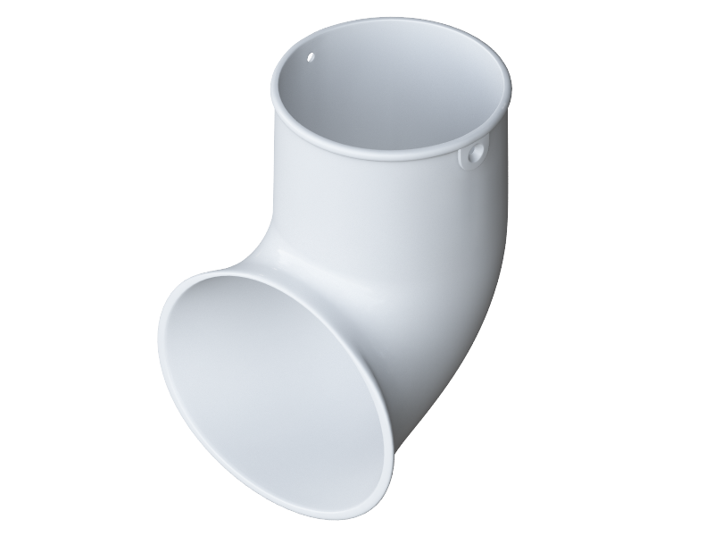 Колено трубы 45° ПВХ