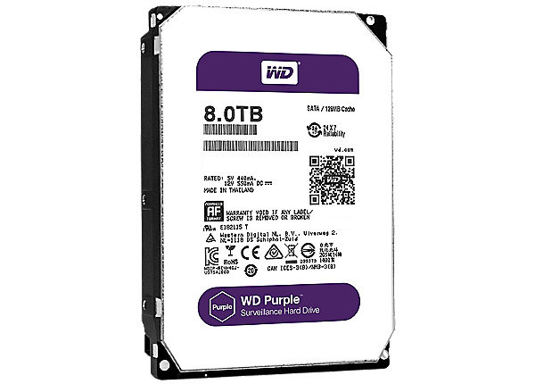 Жесткий диск для видеонаблюдения 8Tb Western Digital Purple WD80PURZ