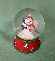 """Новогодний шар со снегом """"Снеговик"""" , фото 1"""