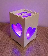 """Мини светильник - ночник """"Сердечки"""" , фото 1"""