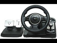 "Игровой руль ""COWBOY® Speed Patrol Real 5in1 Steering Wheel,Vibration Force  compatible with PS2 & PS3, M:801"""