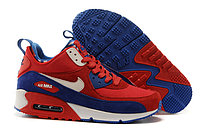 Зимние кроссовки Nike Air Max 90 Sneakerboot Ocean Blue Red (40-46)