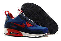 Зимние кроссовки Nike Air Max 90 Sneakerboot Red Blue White (40-46)