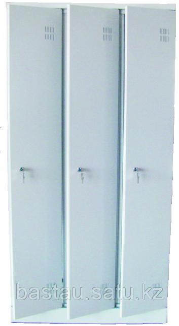 Шкаф для одежды металлический трехсекционный