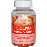 CoQ10 Gummy Vitamins, Peach Flavor, 200 mg, 60 Gummy Vitamins