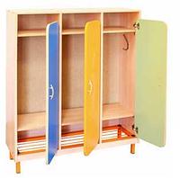 Шкаф детской одежды трехместный с решеткой