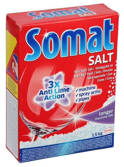 Соль для посудомоечных машин Сомат 1,5кг