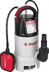 Насос дренажный погружной ЗУБР ЗНПЧ-550, для чистой воды, пропускная способность 240 л/мин, 550 Вт.