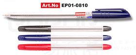 Ручка шариковая 0,5 мм, синяя, корпус прозрачный Epene