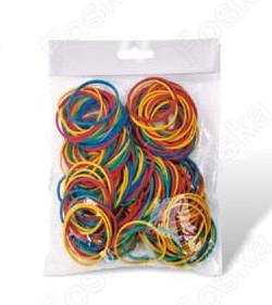 Резинки для денег 100гр, 10см, цветные Foska