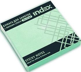 Бумага для заметок с липким слоем,  разм. 76х75 мм, светло-зеленая, 100 л.