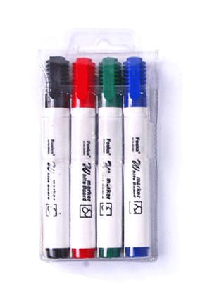 Маркер для доски, 1-3мм, скошенный наконечник, набор 4 цвета Foska