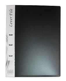 Папка с пружин.зажимом А4, 20мм, внутр.карман, пластик Foska
