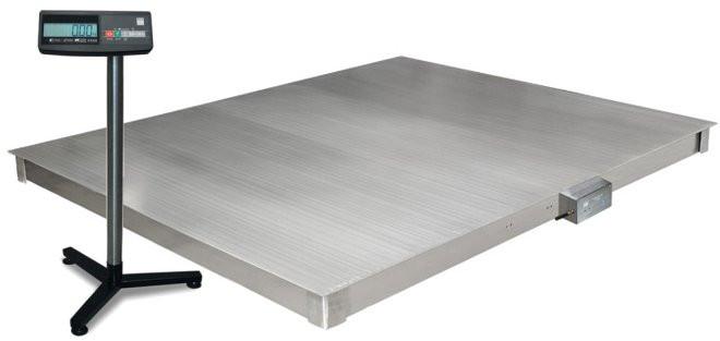 Весы платформенные 4D  P.S  2 1000 A платформа и индикатор из нержавеющей стали