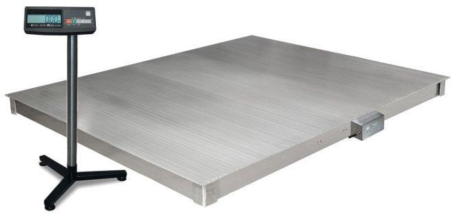Весы платформенные 4D  P.S  2 1000 A платформа и индикатор из нержавеющей стали , фото 2