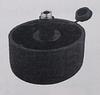 Мебельная опора регулиремая, пластик, черная, D 50 мм
