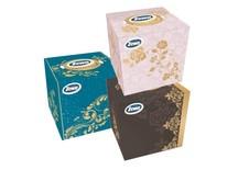 Салфетки косметические Зева куб - Zewa Cube Facials 60листов 3слоя