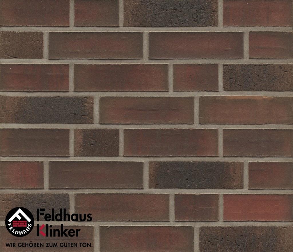 """Клинкерная плитка """"Feldhaus Klinker"""" для фасада и интерьера R882 baro ardor carbo"""