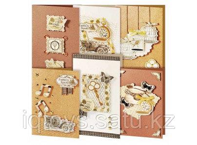 Набор для создания 6-ти скрапбукинг открыток Винтаж