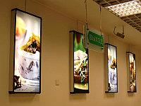 Световая реклама внутри помещения