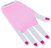 Перчатки Сетка короткие без пальцев (розовые)