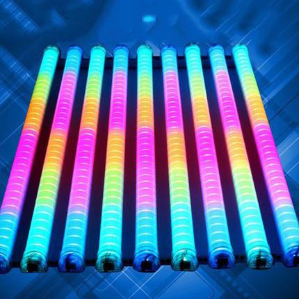 Светодиодная труба  RGB 220V IP66 100 см. (LED RGB TUBES) прозрачная колба