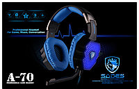 "Наушники ""Headphones+ microphone  SADES   A70   Gaming,Series,7in1 Sound Efect,Deep Bass,Ø 50mm,16Ω ±  15℅"""