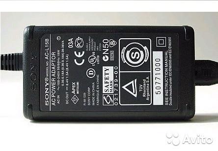 Сетевой адаптер SONY AC-L15B