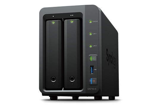 Synology DS716+II   2xHDD NAS-сервер «All-in-1» (до 7-и HDD модуль DX513)