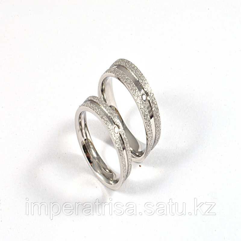 """Парные кольца для влюбленных """"Алмазное сияние"""" под серебро"""