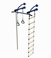 ДСК на базе шведской стенки (навесной метал.турник+канат+веревочная лестница+ крепление к стене) ДСК 1,0х2,4